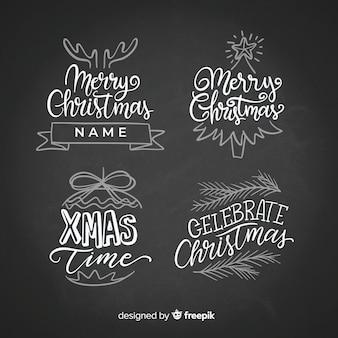 Colección pegatinas de navidad efecto pizarra