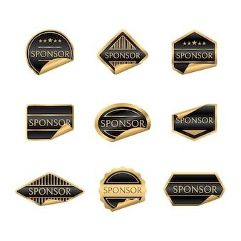 Colección de pegatinas de patrocinadores