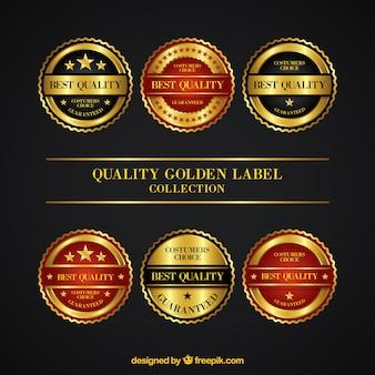 Colección de pegatinas redondas de calidad suprema