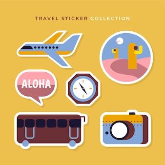 Colección pegatinas viaje