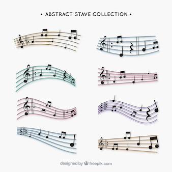 Colección de pentagramas abstractos