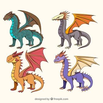 Colección de personaje de dragón