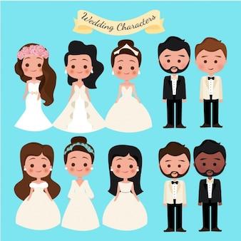 Colección de personajes de boda