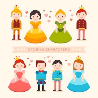 Colección de personajes de cuentos de hadas