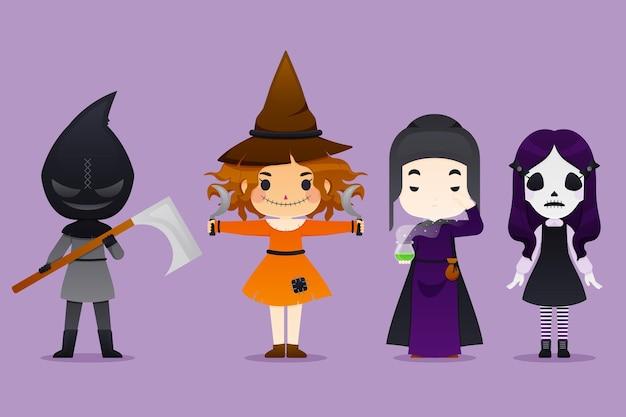 Colección de personajes de halloween