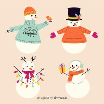 Colección de personajes de muñeco de nieve vintage