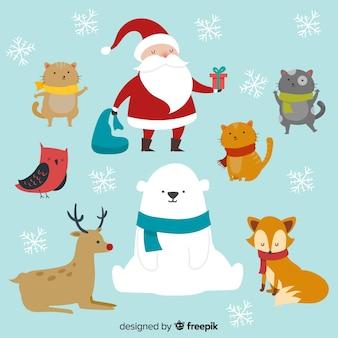 Colección personajes navidad bonitos