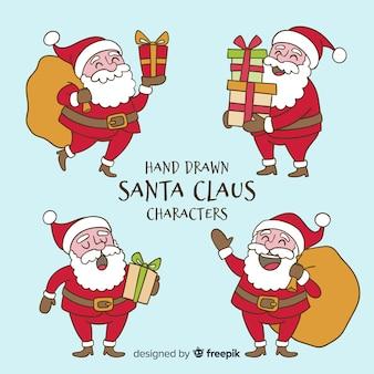 Colección personajes navidad dibujados a mano