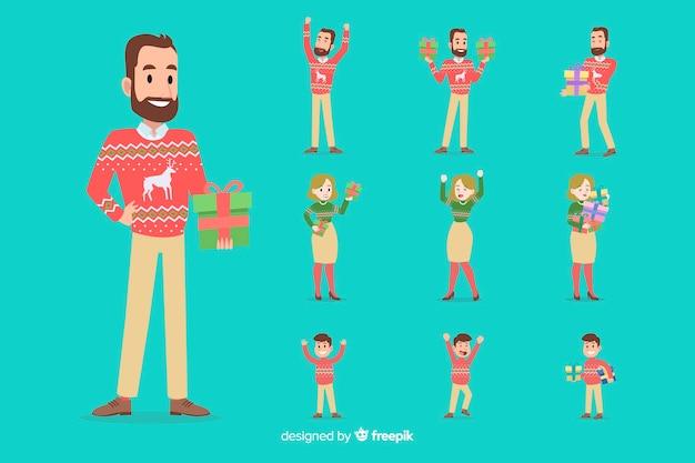 Colección de personajes de navidad