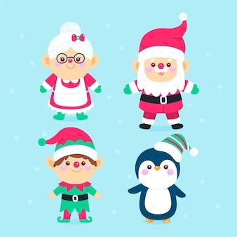 Colección personajes navideños de dibujos animados