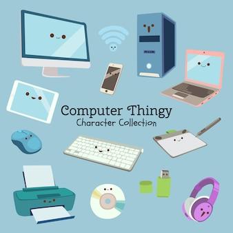 Colección de personajes de thingy de computadora