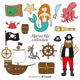 Colección personajes vida en el mar