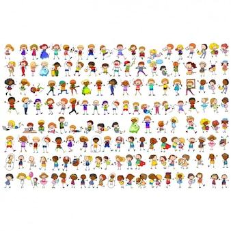 Colección de personas a color