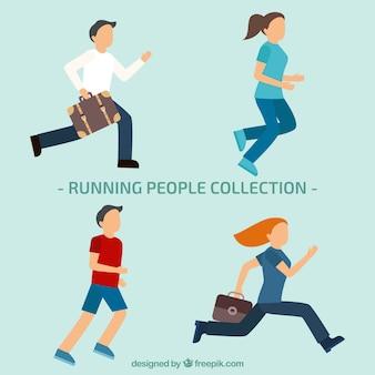 Colección de personas corriendo