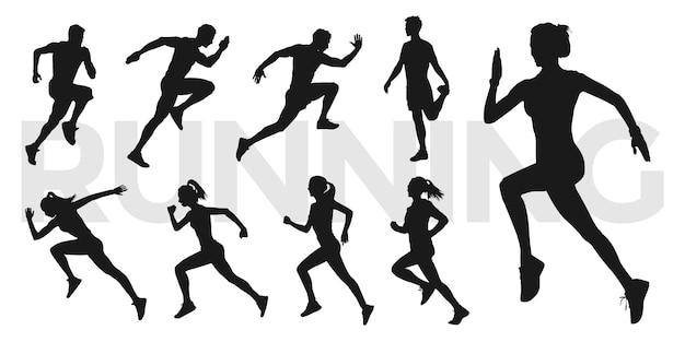 Colección de personas corriendo.