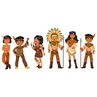 Colección de personas indias