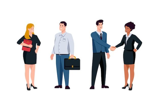 Colección de personas de negocios