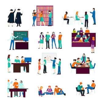 Colección de personas de la universidad