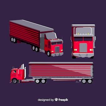 Colección perspectivas isométricas de camión