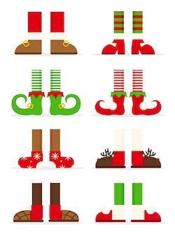 Colección de pies familiares navideños