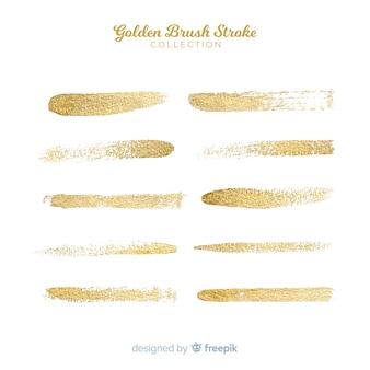 Colección pincelada dorada