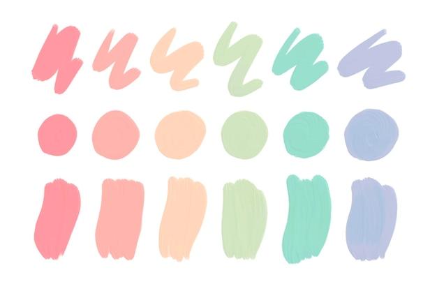 Colección de pinceladas acrílicas pintadas a mano