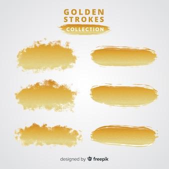 Colección pinceladas doradas