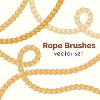 Colección de pinceles de cuerdas