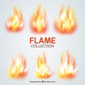 Colección de pinceles de llamas