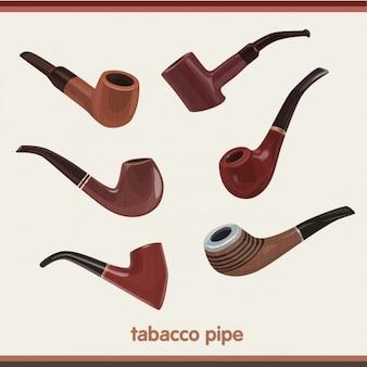 Colección de pipas de fumar