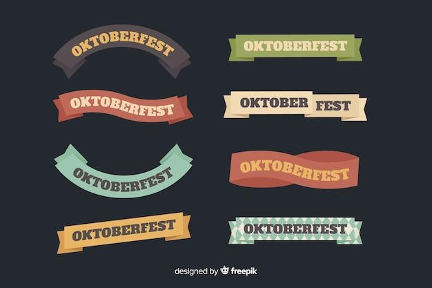 Colección plana de cintas oktoberfest