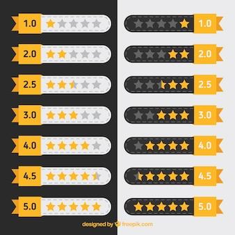 Colección plana de clasificación por estrellas