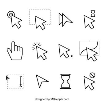 Colección plana de cursores