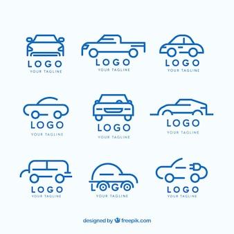 Colección plana de logos de coches