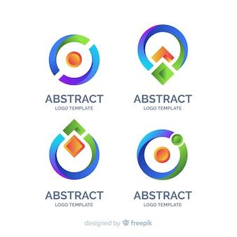 Colección plana logos abstractos