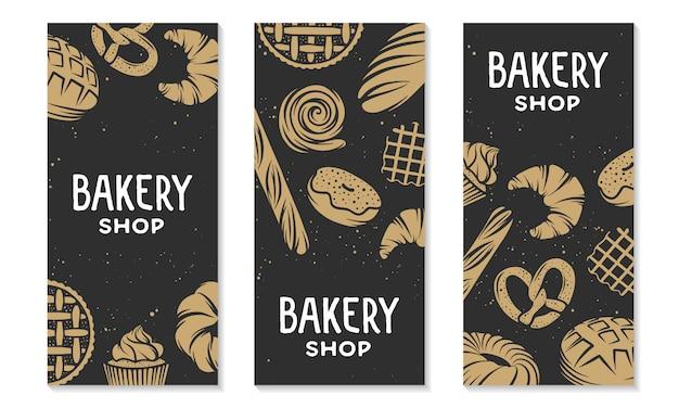 Colección de plantilla de banner vertical de diseño.