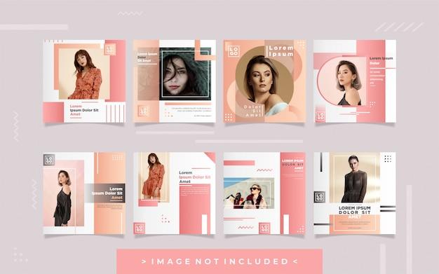 Colección de plantilla de diseño de publicación en redes sociales