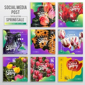 Colección de plantilla de diseño de redes sociales
