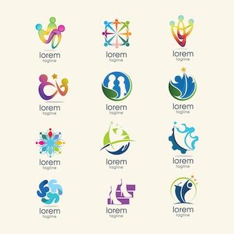 Colección de plantilla de logos abstractos