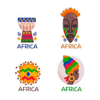 Colección de plantilla de logotipo de áfrica