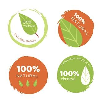 Colección de plantilla de logotipo natural puro