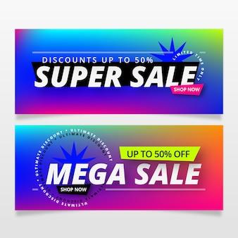 Colección de plantillas de banners de ventas