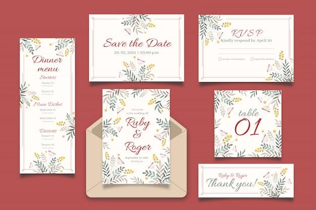 Colección de plantillas de boda