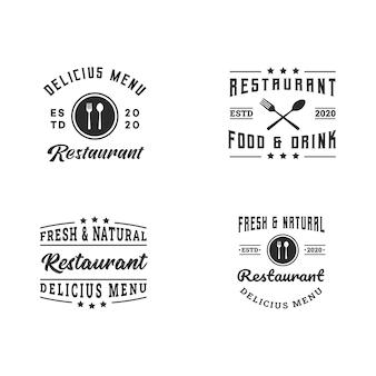 Colección de plantillas de diseño de logotipos de restaurantes modernos