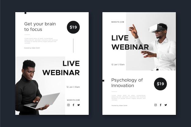 Colección de plantillas de folletos de seminarios web