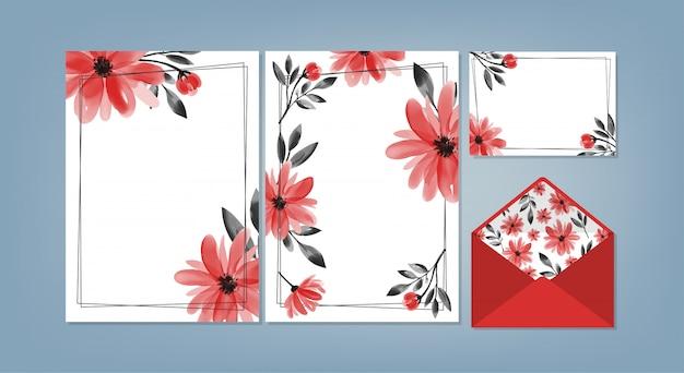 Colección de plantillas de fondo floral.