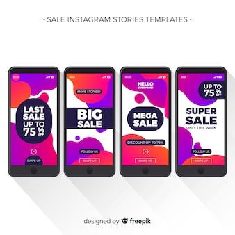 Colección de plantillas de historias de instagram de venta