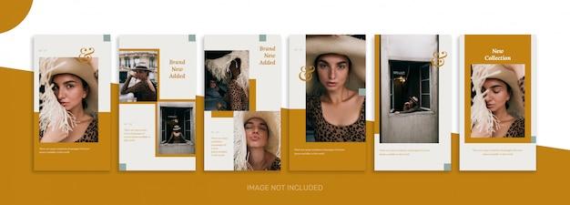 Colección de plantillas de historias de redes sociales estética limpia y venta