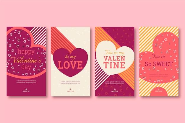 Colección de plantillas de historias de san valentín