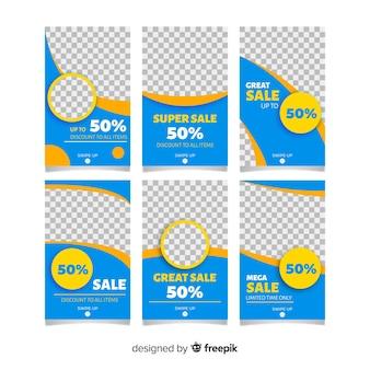 Colección de plantillas de historias de venta de instagram.